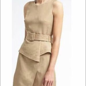 NWOT BANANA REPUBLIC LINEN PEPLUM WRAP DRESS!!
